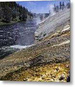 Midway Geyser Runoff Metal Print