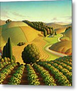Midwest Vineyard Metal Print
