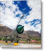 Mig-21 Fighter Plane Of Indian Air Force Used In Kargil War Displayed As Victorious Memory Metal Print