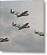 Mighty 8th P51 Mustangs  Metal Print by Pat Speirs