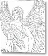 Mighty Warrior Angel Metal Print