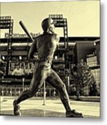 Mike Schmidt At Bat Metal Print by Bill Cannon
