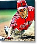 Mike Trout Painting Metal Print