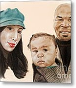 Mike Tyson And Family Altered Version From The One I Gave Him Metal Print by Jim Fitzpatrick