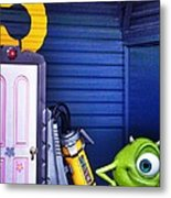 Mike With Boo's Door - Monsters Inc. In Disneyland Paris Metal Print