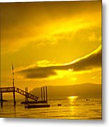 Mike's Beach Resort In The Morning  Metal Print