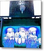 Eternal Light-in White And Blue Metal Print