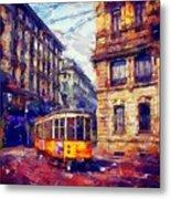 Milan Tram Metal Print