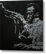 Miles Metal Print by Chris Mackie