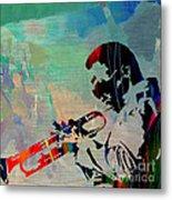 Miles Davis Jazzman Metal Print