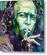 Miles Davis Watercolor Portrait.2 Metal Print