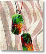 Military Art Dog Tags - Honor 2 - By Sharon Cummings Metal Print