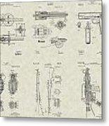 Military Equipment Patent Collection Metal Print