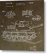 Military Tank Patent Metal Print