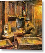 Military Ww I Command Post Photo Art 02 Metal Print