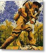Military Ww I Doughboy 02 Photo Art Metal Print