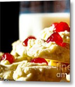 Milk And Cookies Metal Print