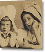 Milkmaid Sisters Metal Print