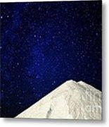 Milky Way Above White Mountain Metal Print