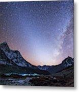 Milky Way And Zodiacal Light Ove Metal Print