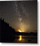 Milky Way At Crafnant 2 Metal Print
