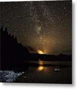 Milky Way At Crafnant Metal Print