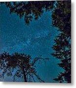 Milky Way Framed Trees Metal Print