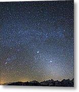 Milky Way Galaxy Over Jackson Hole Metal Print
