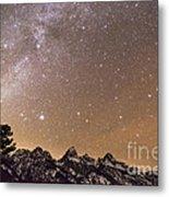 Milky Way Galaxy Over Teton Mountains Metal Print
