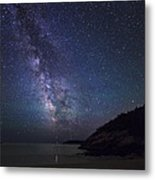Milky Way On Sand Beach Metal Print