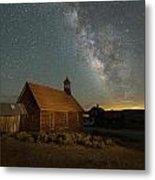 Milky Way Over Bodie Church Metal Print