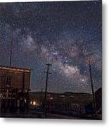 Milky Way Over Bodie Hotels Metal Print