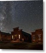 Milky Way Over Downtown Bodie Metal Print