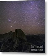 Milky Way Over Half Dome, Yosemite, Usa Metal Print