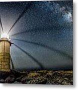 Milky Way Over Marshall Point Metal Print