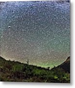 Milky Way Over Red Rock Canyon Metal Print