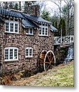 Mill Along The Delaware River In West Trenton Metal Print