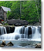 Mill And Waterfall Metal Print