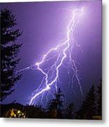 Mill Creek Lightning Metal Print