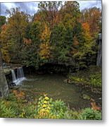 Mill Creek Park In Autumn Metal Print