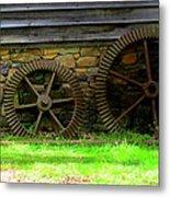 Mill Gears Metal Print