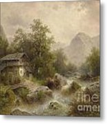 Mill On The Mountain Metal Print