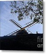 Mill - Silhouette Metal Print