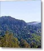 Mill Valley Ca Hills With Fog Coming In Left Panel Metal Print