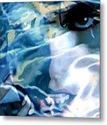 Milla Jovovich Portrait - Water Reflections Series Metal Print
