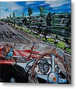 Mille Miglia On Board With Peter Collins Metal Print