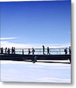 Millenium Bridge London Metal Print