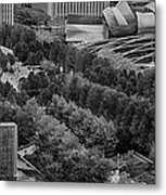 Millenium Park From Above Metal Print
