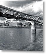 Millennium Foot Bridge - London Metal Print