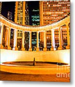 Millennium Monument Fountain In Chicago Metal Print by Paul Velgos